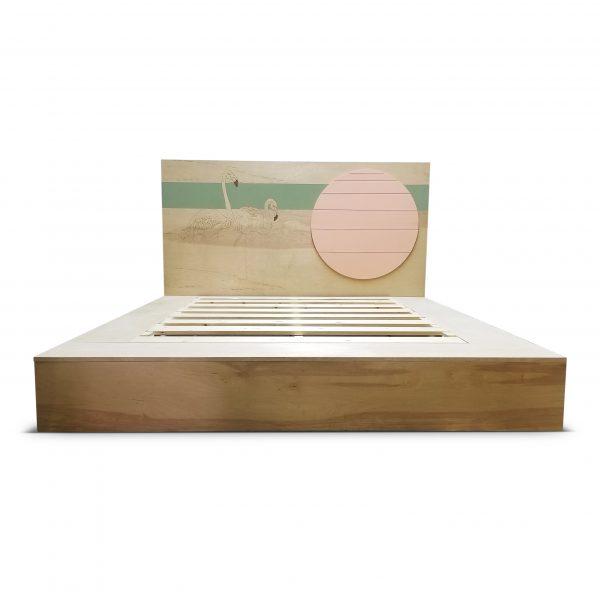 Flamingo Bed by brendan Moffat of Opposite Hand Designs