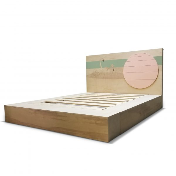 Flamingo Bed by brendan Moffat of Opposite Hand Designs